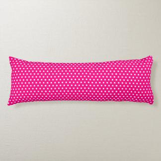 Hot Pink Polka Dots Body Pillow