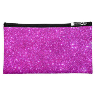 Hot Pink Sparkle Glittery Fun Cosmetic Case