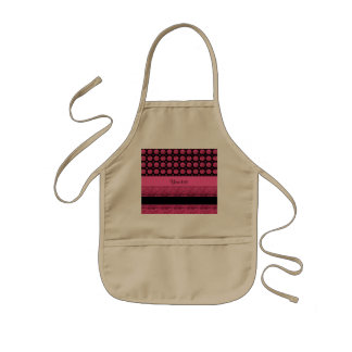 Hot Pink Stripes And Glitter Spots Kids Apron
