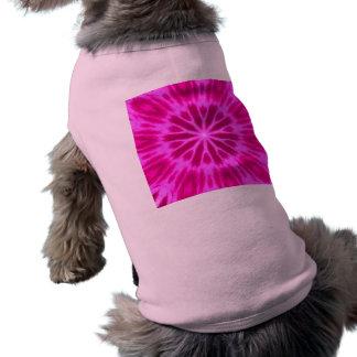 Hot Pink Tie-Dyed Kaleidoscope Shirt