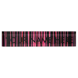 HOT PINK TILE (an abstract art design) ~ Name Plate