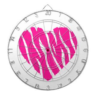 Hot Pink Wild Heart Dartboard