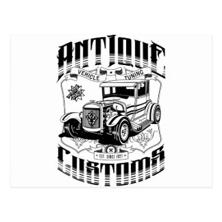 Hot Rod - Antique Customs (black) Postcard