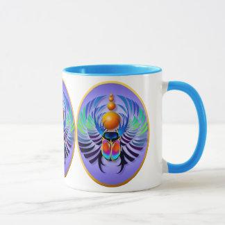 Hot Scarab light Oval Mugs