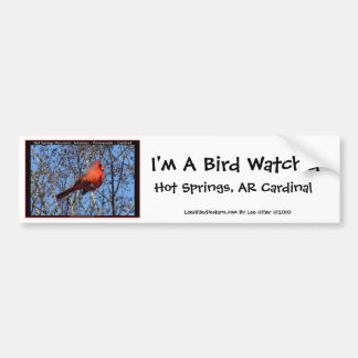 Hot Springs Mountain Promenade  Cardinal Gifts Bumper Sticker