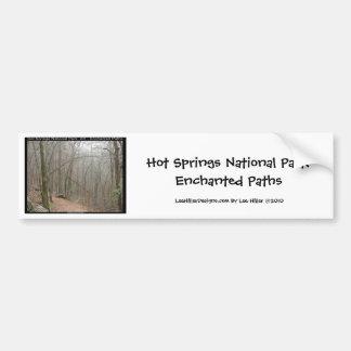 Hot Springs National Park, AR - Enchanted Paths Bumper Sticker
