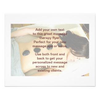 Hot Stones Massage Photo Flyer