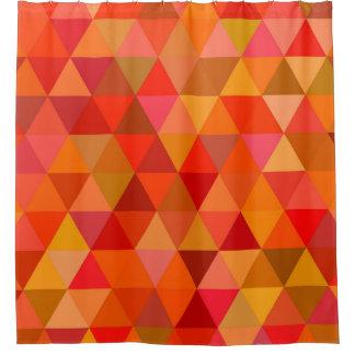 Hot sun triangles shower curtain