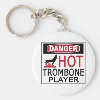 Hot Trombone Player Key Ring