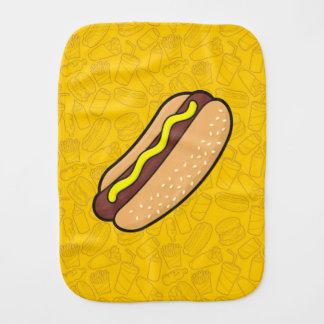 Hotdog Burp Cloth