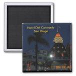 Hotel Del Coronado San Diego California Square Magnet