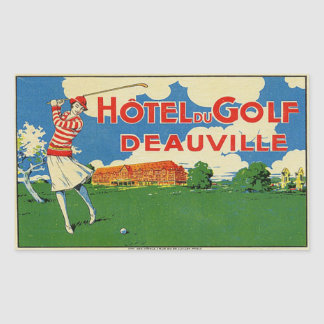 Hotel du Golf (Deauville France) Rectangular Sticker