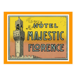 Hotel Majestic Florence Postcard