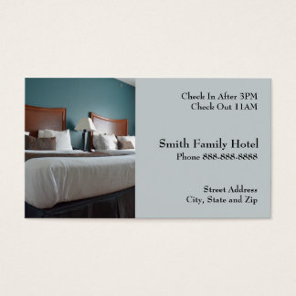 Hotel Motel Lodging Business Card