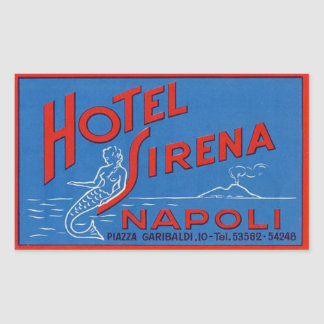 Hotel Sirena (Naples Italy) Rectangular Sticker