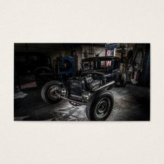 Hotrod in a Garage Business Card
