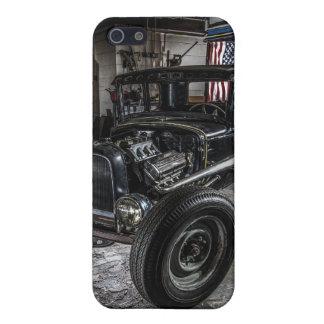 Hotrod in a Garage  iPhone 5 Matte Finish Case iPhone 5/5S Case
