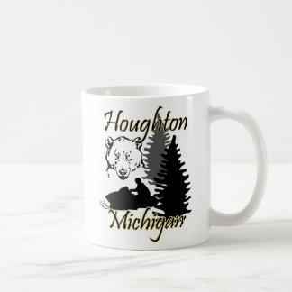 Houghton Michigan Snowmobile Bear Mug