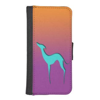 Hound/Whippet blue orange violet Phone wallet case