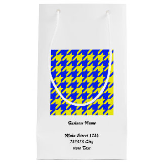 houndstooth 2 blue (I) Small Gift Bag