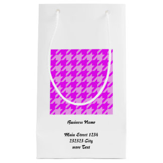 houndstooth 2 pink (I) Small Gift Bag