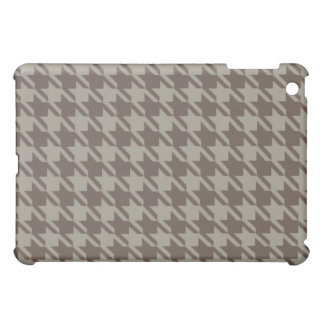 Houndstooth Checks Pern in Grey Browns iPad Mini Cover
