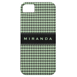 Houndstooth Classic Personalize Case Blue | Black