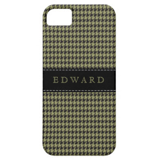 Houndstooth Classic Personalize Case Green | Black
