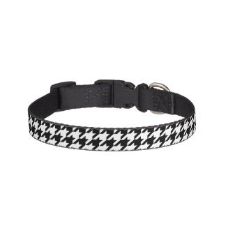 Houndstooth classic weaving pattern pet collar