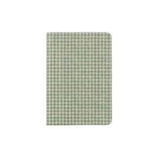 Houndstooth Green Pattern Passport Holder