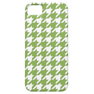 houndstooth greenery and white iPhone 5 cases