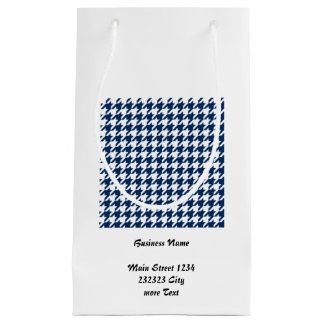 houndstooth midnight (I) Small Gift Bag