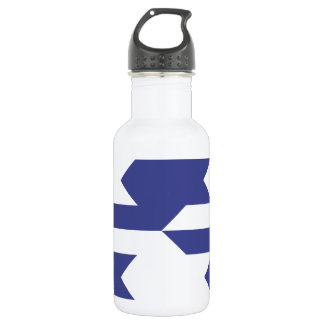Houndstooth Pattern 1 Royal Blue 532 Ml Water Bottle