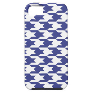 Houndstooth Pattern 1 Royal Blue iPhone 5 Case