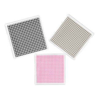 Houndstooth Pattern Acrylic Tray Set
