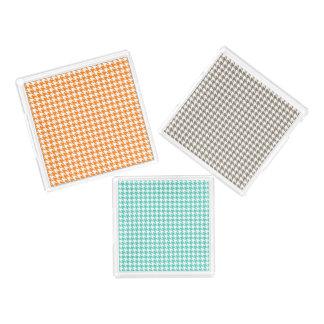 Houndstooth Pattern Acrylic Tray Set