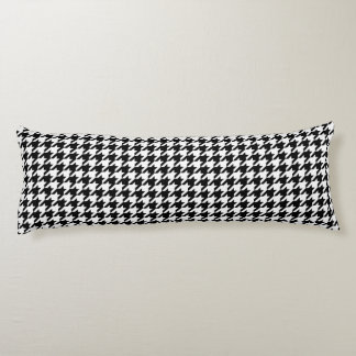 Houndstooth Pattern Black and White Body Cushion