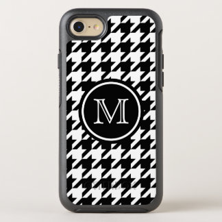 Houndstooth Pattern Black and White Monogram OtterBox Symmetry iPhone 8/7 Case
