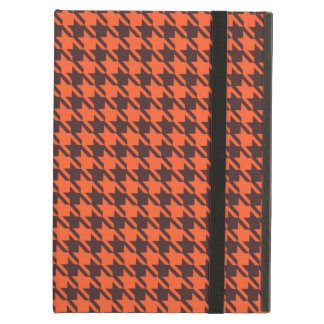 Houndstooth Pattern in Brown and Orange iPad Air Cases