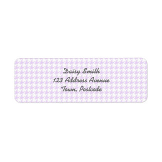 Houndstooth pattern - lilac purple return address label