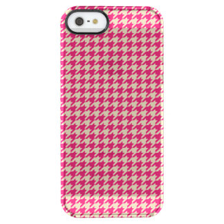 Houndstooth Pink Clear iPhone SE/5/5s Case