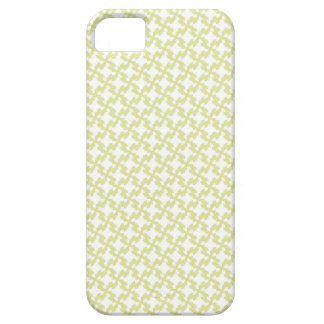 Houndstooth plaid girly abstract vector pattern iPhone 5 case