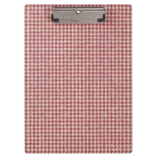 Houndstooth Red Pattern Clipboards