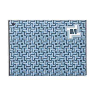 Houndstooth Style Geometric Tessellation in Blue iPad Mini Cover