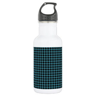 Houndstooth Teal and Black 532 Ml Water Bottle