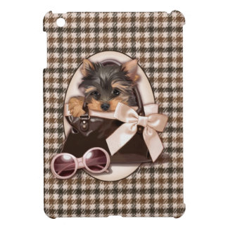 Houndstooth Yorkie Puppy iPad Mini Case