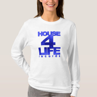 House 4 Life Records Ladies Fitted Hoodie-Royal Bl T-Shirt