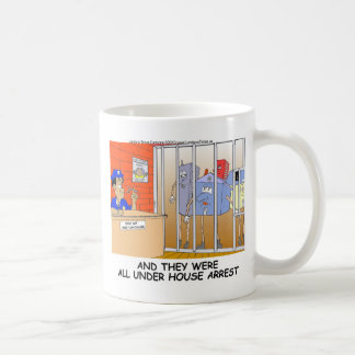 House Arrest Funny Police Mugs Tees Cards Gift Etc Coffee Mugs