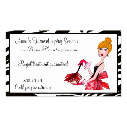 House Cleaning Diva Business Cards : Zazzle