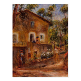 House in Collett at Cagnes by Pierre-Auguste Renoi Postcard